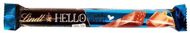 Lindt, Hello Crunchy Nougat, baton czekoladowy z nugatem, chrupkami i orzechami laskowymi, copyright Olga Kublik
