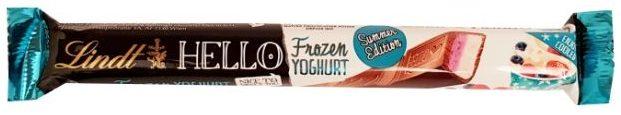 Lindt, Hello Frozen Yoghurt, baton czekoladowy z kremem o smaku mrożonego jogurtu z owocami leśnymi, copyright Olga Kublik