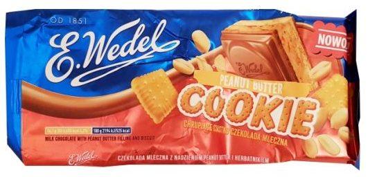 Wedel, Peanut Butter Cookie Chrupiace ciastko Czekolada mleczna, wedlowska czekolada z masłem orzechowym, copyright Olga Kublik