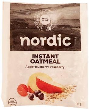 Arctic Food, owsianka owocowa z jagodą, maliną i jabłkiem, Nordic Instant Oatmeal Apple-bluberry-raspberry, copyright Olga Kublik