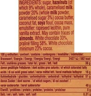 Camille Bloch, Ragusa Blond Caramelise, biała czekolada karmelowa z nugatem i orzechami laskowymi, szwajcarska czekolada, skład i wartości odżywcze, copyright Olga Kublik