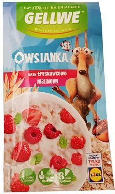 Gellwe, Owsianka smak truskawkowo-malinowy, owsianka z Lidla, copyright Olga Kublik