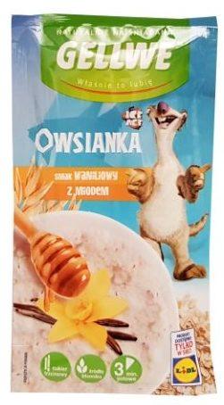Gellwe, Owsianka smak waniliowy z miodem, owsianka z Lidla, owsianka Epoka Lodowcowa, copyright Olga Kublik