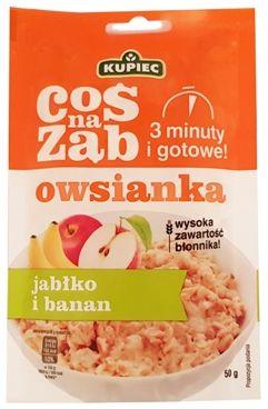 Kupiec, owsianka Coś na ząb jabłko i banan, copyright Olga Kublik