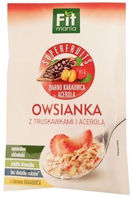 Mokate, Fit mania Superfruits ziarno kakaowca owsianka z truskawkami i acerola, copyright Olga Kublik
