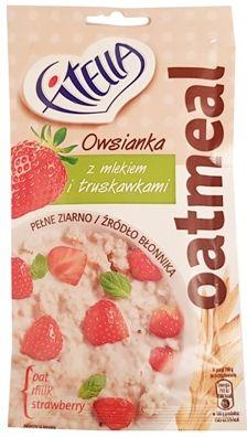 Nestle, Fitella Oatmeal Owsianka z mlekiem i truskawkami, copyright Olga Kublik