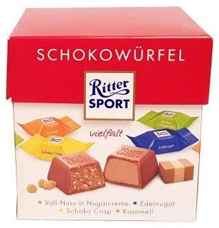 Ritter Sport, Schokowurfel vielfalt, kolekcja czekoladek, bombonierka, pralinki czekoladowe, czekoladki niemieckie, copyright Olga Kublik