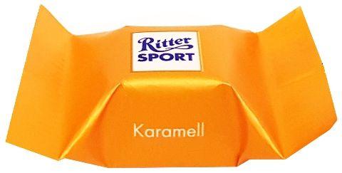 Ritter Sport, Schokowurfel vielfalt, kolekcja czekoladek, bombonierka, pralinki czekoladowe, czekoladki niemieckie, Karamell, copyright Olga Kublik