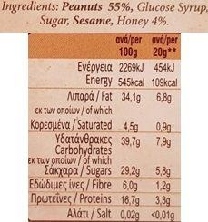 Smell Greece, Nut Bar with Peanuts, baton orzechowy z sezamem i miodem, skład i wartości odżywcze, copyright Olga Kublik