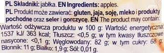 Cykoria, Jabcusie chipsy jabłkowe suszone, skład i wartości odżywcze, copyright Olga Kublik