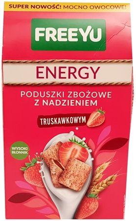 FreeYu, Energy Poduszki zbożowe z nadzieniem truskawkowym, copyright Olga Kublik