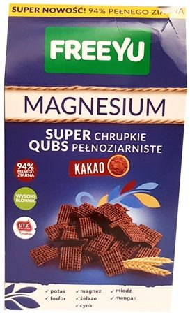 FreeYu, Magnesium Super Qubs chrupki kakaowe, copyright Olga Kublik