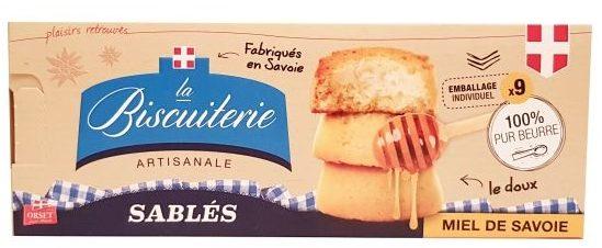 La Biscuiterie, Sables miel de Savoie, kruche ciastka maślane z miodem, włoskie herbatniki miodowe, copyright Olga Kublik
