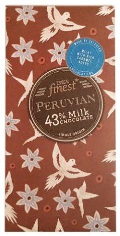 Tesco finest, Peruvian Milk Chocolate 43%, peruwiańska mleczna czekolada z Tesco, copyright Olga Kublik