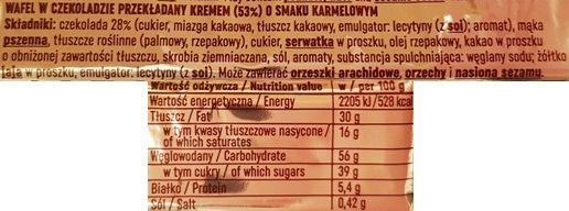 Kopernik, Wafel Teatralny smak karmelowy, skład i wartości odżywcze, copyright Olga Kublik