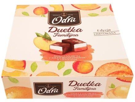 Odra, Duetka Familijna Pianka z galaretka z sokiem brzoskwiniowym w czekoladzie, copyright Olga Kublik