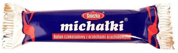 Śnieżka, Michałki baton czekoladowy z orzechami arachidowymi, copyright Olga Kublik