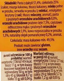 Bakalland, BArdzo bakaliowa tabliczka w czekoladzie daktyle, pomarańcze, kawa, skład i wartości odżywcze, copyright Olga Kublik