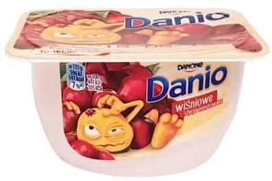 Danone, Danio wiśniowe, owocowy serek homogenizowany, copyright Olga Kublik