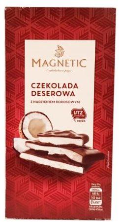 Erasmi Carstens, Magnetic Czekolada deserowa kokosowa, ciemna czekolada z Biedronki, copyright Olga Kublik