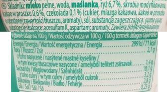 Muller, Riso Light Tasty Czekolada, niskokaloryczny ryż na mleku z czekoladą, skład i wartości odżywcze, copyright Olga Kublik