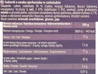 Odra, Trufle w czekoladzie o smaku ajerkoniaku, skład i wartości odżywcze, copyright Olga Kublik