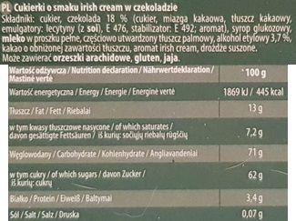 Odra, Trufle w czekoladzie o smaku irish cream, skład i wartości odżywcze, copyright Olga Kublik