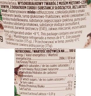 Valio, PROfeel Protein Snack Mint Chocolate, jogurt proteinowy miętowo-czekoladowy, skład i wartości odżywcze, copyright Olga Kublik