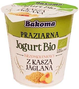 Bakoma, Praziarna Jogurt Bio brzoskwiniowy kasza jaglana, jogurt ekologiczny, copyright Olga Kublik