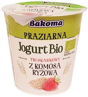 Bakoma, Praziarna Jogurt Bio truskawkowy komosa ryzowa, jogurt ekologiczny, copyright Olga Kublik