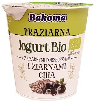 Bakoma, Praziarna Jogurt Bio z czarnymi porzeczkami i ziarnami chia, jogurt ekologiczny, copyright Olga Kublik