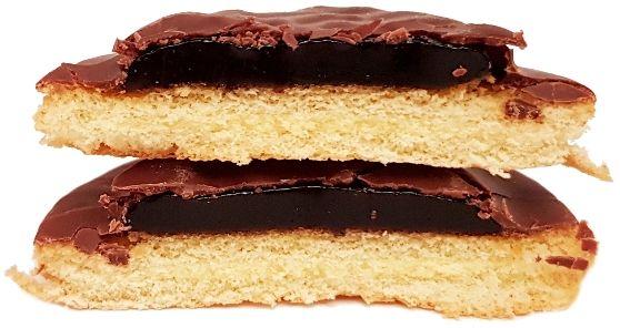 Moja Bajka, Delicje Szampańskie o smaku Jagodowym, ciastka z galaretką w ciemnej czekoladzie, jaffa cakes z biszkoptem, copyright Olga Kublik