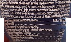Muller, Riso czekolada - orzech laskowy, ryż na mleku, deser mleczny z ryżem, skład i wartości odżywcze, copyright Olga Kublik