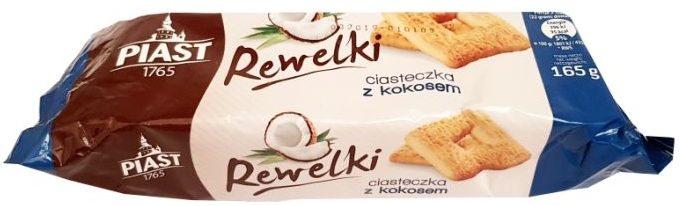 Piast, ciastka kokosowe Rewelki, herbatniki z kokosem, copyright Olga Kublik