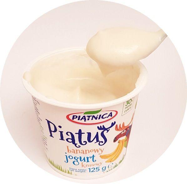 Piątnica, jogurt kremowy Piatus bananowy, copyright Olga Kublik