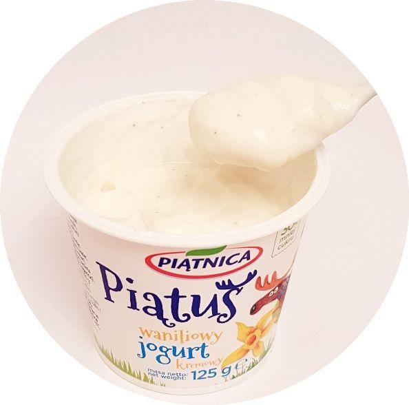 Piątnica, jogurt kremowy Piatus waniliowy, copyright Olga Kublik