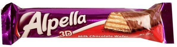 Ulker, Alpella 3D Milk Chocolate wafer, orzechowy wafel z mleczną czekoladą, copyright Olga Kublik