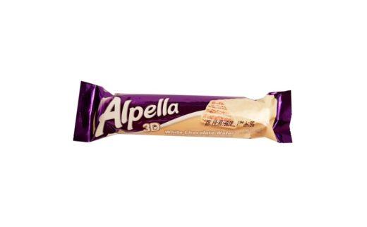 Ulker, Alpella 3D White Chocolate wafer, mleczny wafel w czekoladzie białej, copyright Olga Kublik