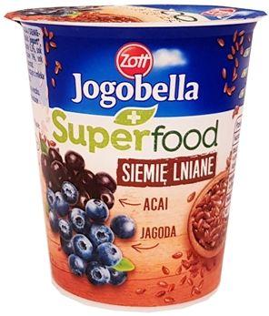 Zott, jogurt Jogobella Superfood Siemie lniane, Acai, Jagoda, copyright Olga Kublik