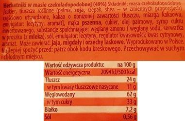 Bahlsen, Krakuski Maltanki herbatniki w masie czekoladopodobnej, kruche ciastka z polewą, skład i wartości odżywcze, copyright Olga Kublik