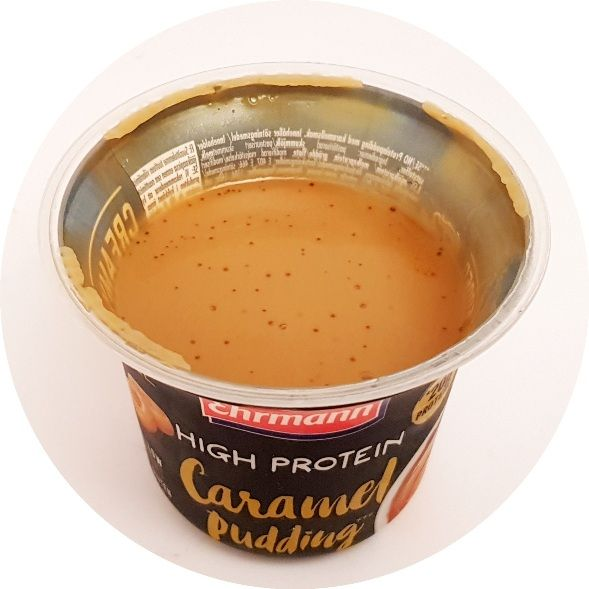 Ehrmann, High Protein Pudding Caramel, karmelowy deser proteinowy, copyright Olga Kublik
