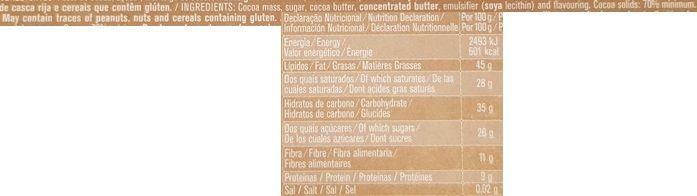Imperial, Regina Chocolates Chocolate preto 70 %, portugalska ciemna czekolada gorzka, skład i wartości odżywcze, copyright Olga Kublik