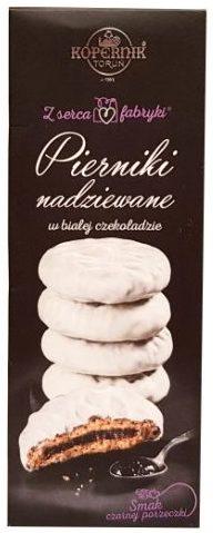 Kopernik, Pierniki nadziewane w bialej czekoladzie Smak czarnej porzeczki, czekoladowe pierniki z dżemem czarna porzeczka, toruńskie pierniki, copyright Olga Kublik