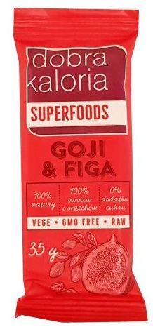 Kubara, Dobra Kaloria Superfoods Goji Figa, wegański baton surowy owocowy z orzechami, raw food, copyright Olga Kublik
