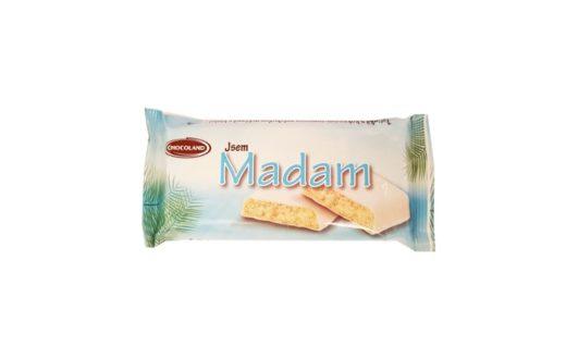 Chocoland, Jsem Madam tycinka kokos-rum, czeski baton w białej polewie z kokosem i rumem, copyright Olga Kublik