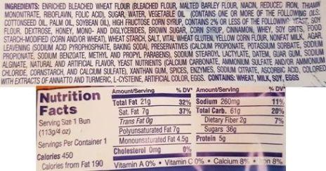 Flowers Food, Mrs. Freshleys Cinnamon Swirl Bun, amerykańska bułka drożdżowa z cynamonem i lukrem, słodka bułka drożdżowa, skład i wartości odżywcze, copyright Olga Kublik