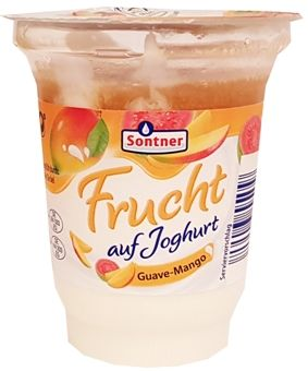 FrieslandCampina, Sontner Frucht auf Joghurt Guave-Mango, jogurt z Aldiego, copyright Olga Kublik