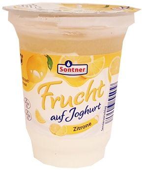 FrieslandCampina, Sontner Frucht auf Joghurt Zitrone, jogurt cytrynowy z Aldiego, copyright Olga Kublik