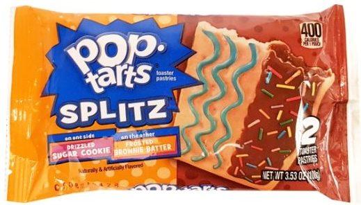 Kellog's, Pop Tarts Splitz Drizzled Sugar Cookie Frosted Brownie Batter, amerykańskie ciastka z lukrem, słodkie tosty śniadaniowe, copyright Olga Kublik