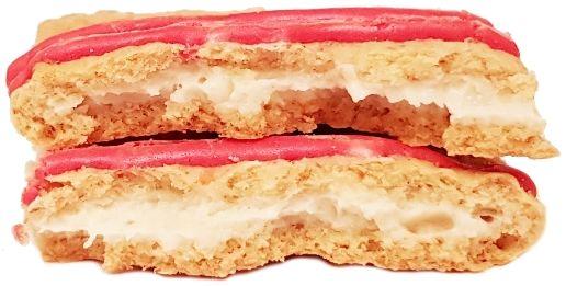 Kellog's, Pop Tarts Splitz Frosted Strawberry Drizzled Cheesecake, tosty amerykańskie ciastka z lukrem, truskawkami i sernikiem, copyright Olga Kublik